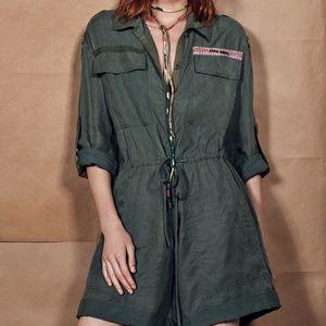 Zara SRPLS Limited Edition Army Romper 🔥 🎖